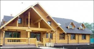 Возведение домов из оцилиндрованного бревна и бруса