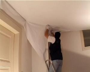 Применение натяжных полотен для ремонта потолка