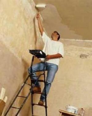 Оформление потолка окраской